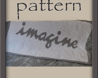 PATTERN Crochet Imagine Afghan - PDF No. 124 - Instant Download