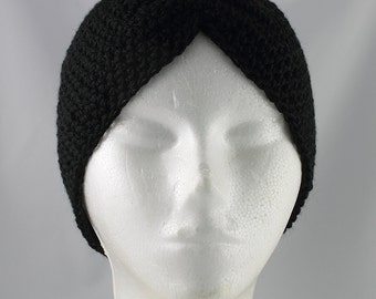 Black Turban Hat for Cancer Patients - Cancer Hat/Chemo Hat/Cancer Cap/Chemo Cap