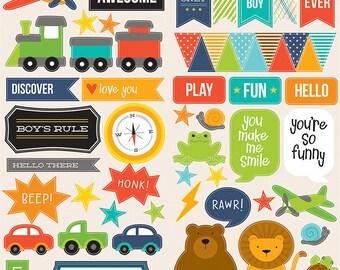 Embellishments stickers theme boy child