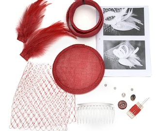 Diy fascinator etsy craft it yourself diy fascinator making kits all you need to make your own mini solutioingenieria Images