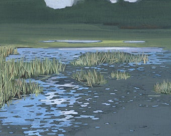 Low Tide - limited edition archival art print