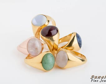 Moonstone Ring, Pinky Ring, Woman Signet, Signet Ring, Gemstone Signet, Oval Moonstone Ring, Woman Pinky Ring, Oval Birthstone, Statement