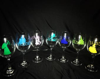 Disney Princess Wine Glass