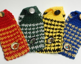 Show off your Hogwart's House Colors with this stylish earwarmer/headband (Houndstooth pattern)