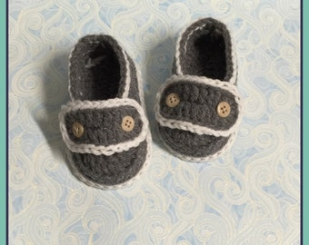 Crochet Baby Shoe - Baby Booties - Hand Made - Ready To  Ship
