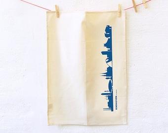 BIO Dish towels EINDHOVEN Flour Sack, Natural Kitchen Tea Towel, Organic Cotton, Urban Bohemian style, housewarming hostess wedding gift