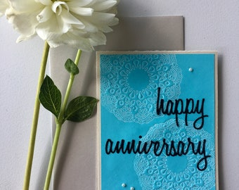 Happy Anniversary Handmade Card