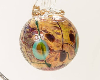 604126 Medium Hand Blown Hanging Art Glass Ball Decorative Ornament