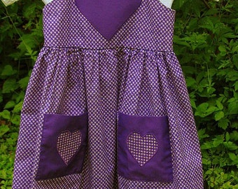 SALE Purple Sweetheart Sundress Girl's Size 4\/6