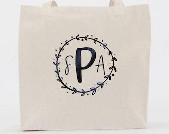 Monogram Tote Bag, Bridesmaid Tote, Personalized Tote, Monogrammed Tote Bag, Monogrammed Tote, Bridesmaid Gift, Personalized Bag, Bridesmaid