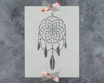 Dream Catcher Stencil - Reusable DIY Craft Stencils of a Dreamcatcher for Walls and Paiting - Large Dream Catcher Size Available
