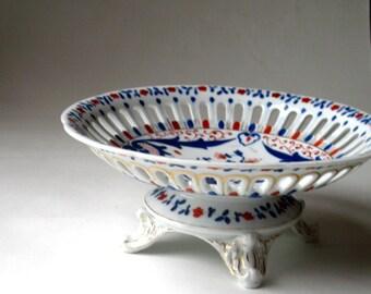 Antique French Porcelain Compote - Napoleon III Style Tasse - Paris Fleamarket Find - Bowl