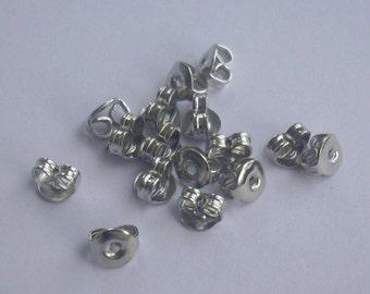 100 Silver Earring - supportive Earrings Backs Iron tips