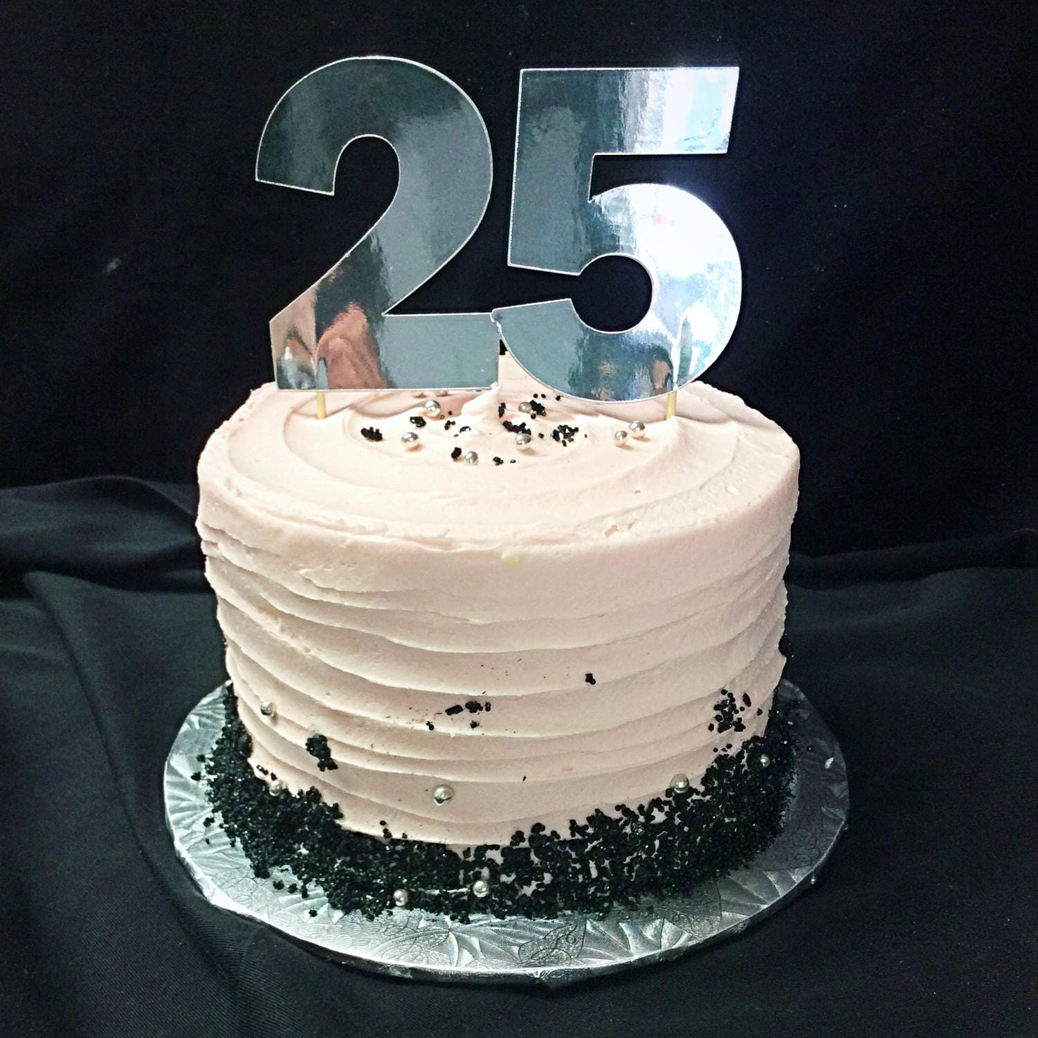 25th Birthday Cake Topper 25
