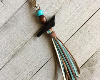 Western Style Tassel Purse Charm - Gift for Her