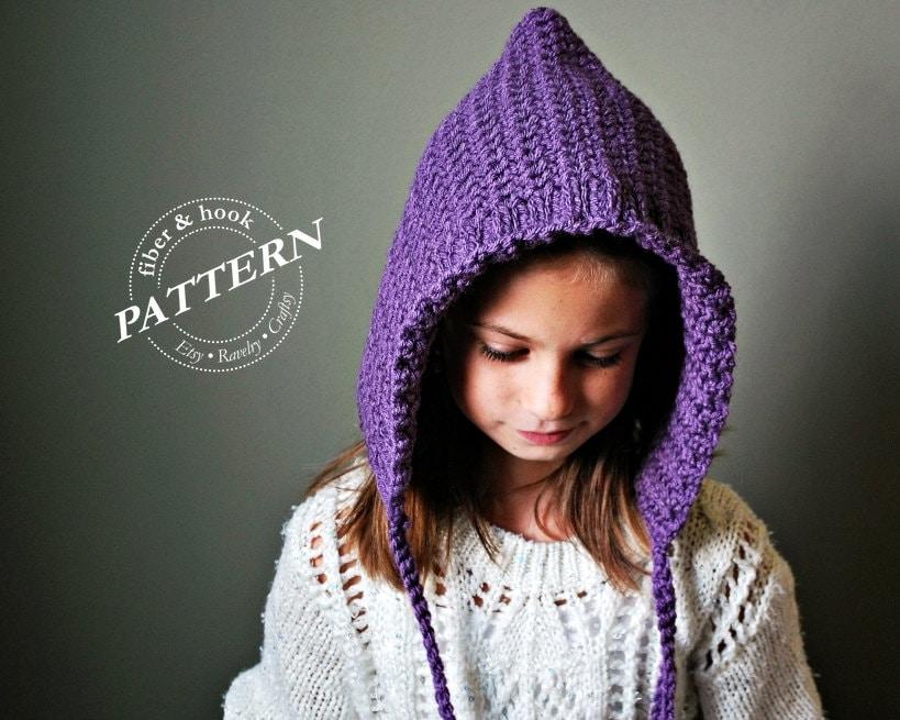 Crochet Pattern Ribbed Edge Pixie Hat Pattern Crochet Pixie