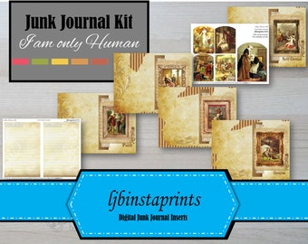 Human Characteristics Junk Journal Kit,  Junk Journal Kit, Vintage Junk Journal Kit, Instant Download