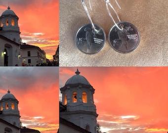 Colombian coin earrings