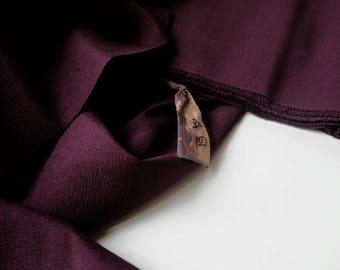 Eggplant Purple Silk Tsumugi Kimono Fabric unused bolt by the yard Dark Purple 100% Silk OFF the bolt Aubergine Vintage Japanese Textile