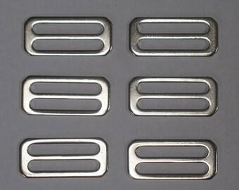 "Silver Strap Hardware 2"" x 7/8"" for Handbag and Purse Construction"