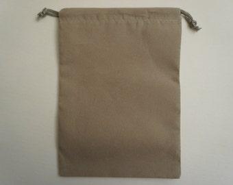 Grey Velvet Drawstring Pouch 5X7 Inch Set of 4 Gray Velvet Pouches Velveteen Pouch Velour Bag Gift Giving Crystal Pouch Sack