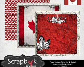 Canada Digital Scrapbooking. Instant Download.