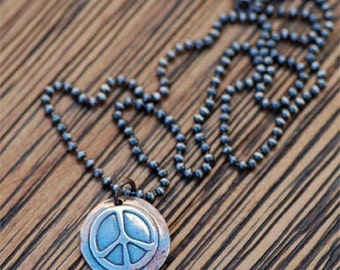 Groovy Peace Sign Necklace