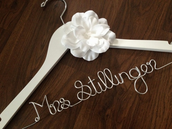 Sale wedding dress hanger bride hanger wedding hanger for Wedding dress hangers with name