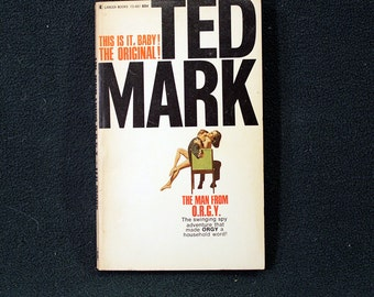 The Man From O.R.G.Y. by Ted Mark Vintage 1968 Adventure Paperback Lancer Books Nice!