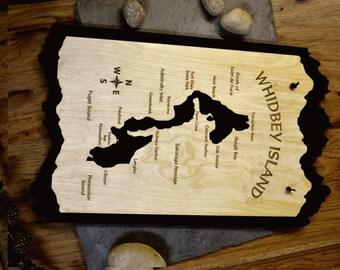 Whidbey Island Wood Map