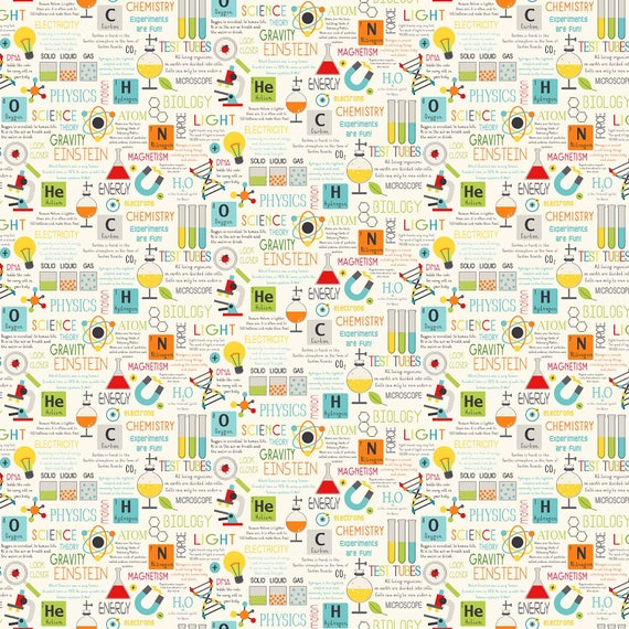 science fabric 21532 11 you choose size little genius northcott physics chemistry periodic table teacher fabric from tcsfabrics on etsy studio - Periodic Table Fabric