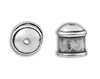 4 Pcs JBB 8mm Banded End Caps Antique Silver -  for Viking Knit, Kumihimo, Cord  BBF002AS
