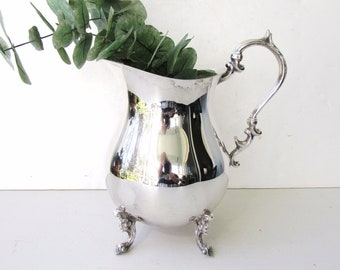 Vintage Silver Water Pitcher - Silver plate Silverplate - Water Pitcher - English Silver MFG Corp - 64 oz - Elegant Water Pitcher