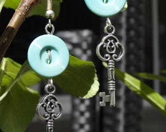 Secret Garden - Earrings buttons and charms