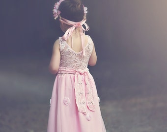 Flower girl pink Maxi dress 7