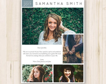 75 x 10 senior yearbook ad photoshop template psd instant download