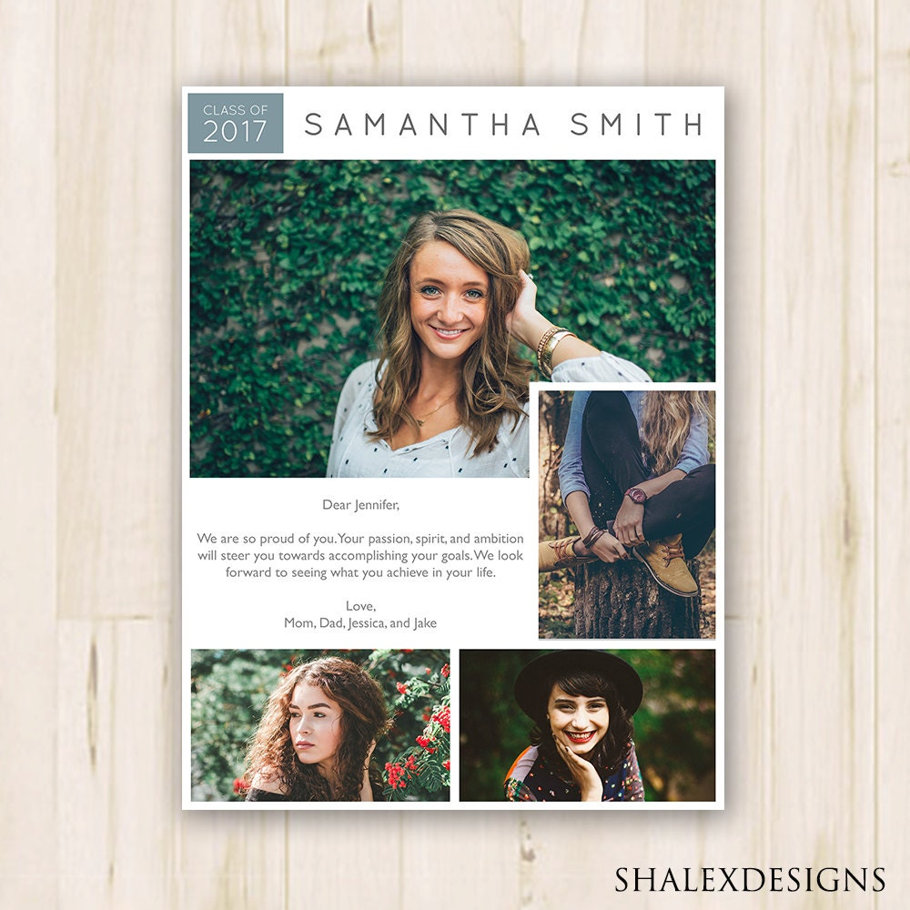 7.5 x 10 Senior Yearbook Ad Photoshop Template