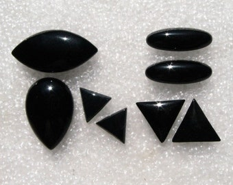 Black Onyx Cabochon Group