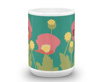 Poppies in the Field Mug