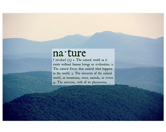Nature Definition Poster