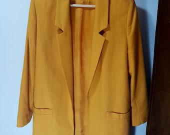 Vintage yellow blazer