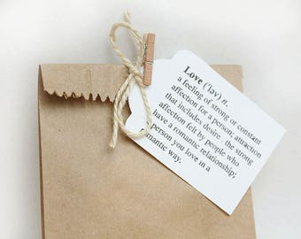 THANK YOU tags, gift tags, thank you tags, thank you favour bag tags, LOVE tags X 10