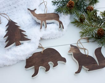 Woodland Ornaments - Handmade Ornament - Rustic Christmas - Rustic Ornaments - Woodland Christmas