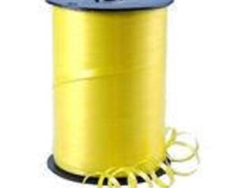 Lemon Curling Balloon Ribbon - 500m, Lemon Ribbon, Yellow Balloon Ribbon, Yellow Craft Ribbon, Lemon Balloon Accessories