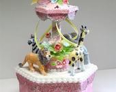 Pink Circus Carousel Cake...