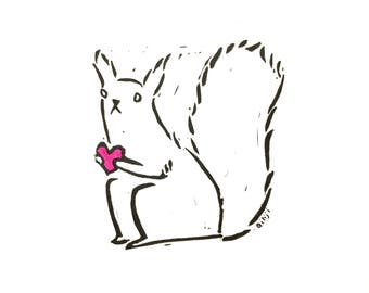 Nuts for you Valentines Card - cute squirrel proclaming their love!