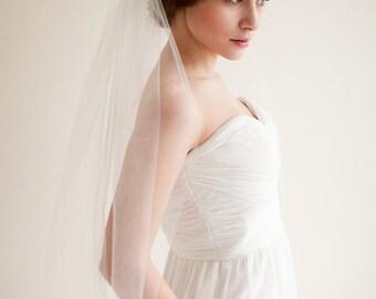 Wedding Veil, Floor length Veil, Bridal Veil, Tulle Veil - 72 inches - Arabella Style 7613