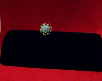 Faux turquoise adjustable ring - Free shipping