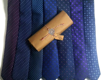 Medium Tie Poly Patterns #6 GIFT PACKAGE for men with Wax Seal & Hand Written Calligraphy. Great for Office Gifts .Fast shipping from US
