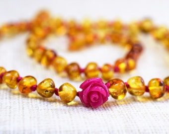 Amber teething necklace / Amber necklace / Genuine Baltic Amber / Baby Teething Necklaces / Amber teething necklace / Baltic amber